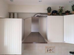 гофру от вытяжки на кухне